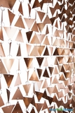 "Beaded Curtain ""Trilogy"" Geometric PVC Matte Gold - 7.5 Feet Long"