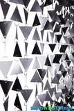 "Beaded Curtain ""Trilogy"" Geometric PVC Graphite- 7.5 Feet Long"