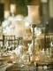 """Beaded Real Crystals Candle Holder - Tulip Shape - """"Prestige"""" - Gold 15"""""""