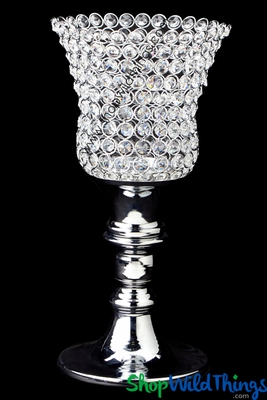 Crystal Beaded Tulip Candle Holder 18 Quot Shopwildthings Com