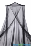 "Bed Canopy  ""Jane""  Black Mosquito Net"