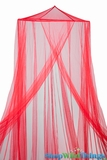 "Bed Canopy ""Jane"" Red Mosquito Net"