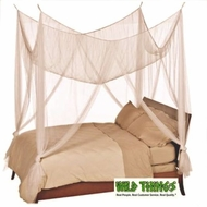 Bed Canopy,  Romantic Cabana  Four Point, Ivory Color  Luxury Quality