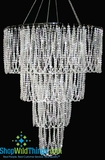 """Bellissima""  4 Tier Acrylic Diamond Chandelier 24""  x 48"""