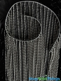 Ballchain Faux Metal Bendable Top Beaded Curtains - Steel - 3 ft x 9 ft