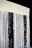 """""""Bespangled"""" Sequin and String Mix Curtain 36"""" x  88"""" Cream & Gray - Fire Treated"""