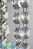 """Bianca"" 30 Foot Long Faceted Large Crystal Octagon Acrylic Bead Strands"