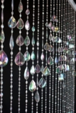 Big Teardrops Beaded Curtain - Crystal Iridescent - 3 ft x 6 ft