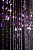 Big Teardrops Beaded Curtain - Purple Iridescent - 3 ft x 6 ft