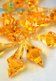 """Bijou"" Crystal Acrylic Pendants -  Amber Gold- Bag of 130pcs"