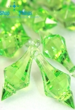 """Bijou"" Crystal Acrylic Pendants - Bright Green - Bag of 130pcs"
