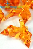 """Bijou"" Crystal Acrylic Pendants - Orange - Bag of 130pcs"