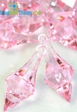 """Bijou""  Crystal Acrylic Pendants - Pink - Bag of 130pcs"
