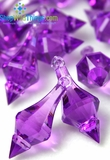 """Bijou""  Crystal Acrylic Pendants - Purple - Bag of 130pcs"