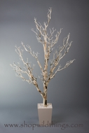 "Birch Tree in Pot - Bendable - 60"" Tall - Natural Colors w/ Moss"