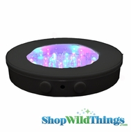 "Black Base 6"" Super Bright 40 LED Color Changing (or just White!) Light Base"