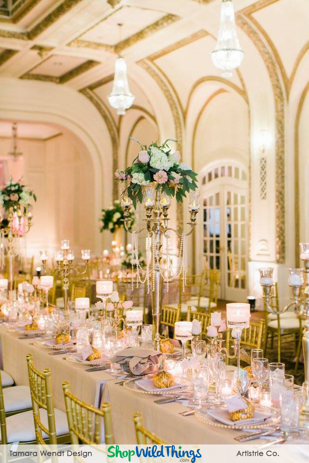 "Blog! Photos! ""Shiny Neutrals Make Glam Reception"""