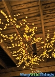 "Blossom LED Ceiling Tree Yellow 60"" X 60"""