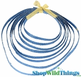 Blue Glitter Rope - Double Sided - 5 Yards