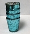 "Mercury Glass Candle Holders 12 PCS - ""Lydia"" Small 2.5"" Turquoise Blue"