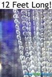 """Brilliant"" Beaded Curtain Clear Non-Iridescent 3' x 12'"