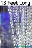 Brilliant Beaded Curtain - Clear Non-Iridescent - 3' x 18'