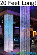 Brilliant  Square Crystal Non-Iridescent Column - 20 Feet Long!