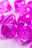 """Bryn""  Crystal Acrylic Pendants - Fuchsia - Bag of 100 pcs"