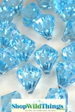 """Bryn""  Crystal Acrylic Pendants - Light Blue - Bag of 100 pcs"