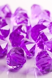 """Bryn""  Crystal Acrylic Pendants - Purple - Bag of 100 pcs"