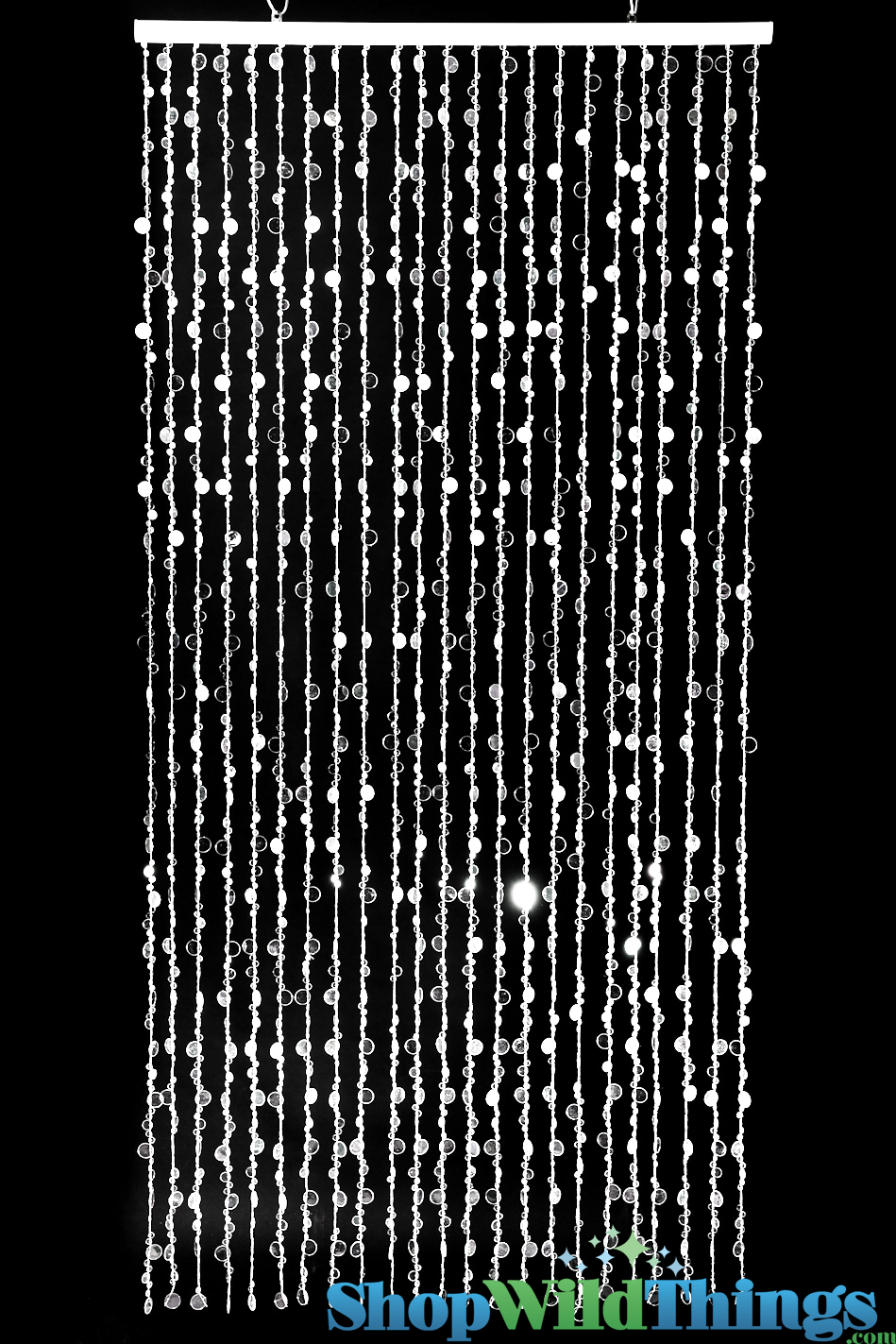 "Bubbles Beaded Curtain - Crystal - 3 ft x 6 ft (The ""Oprah Winfrey ..."