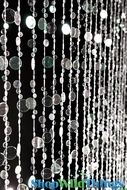 Bubbles Beaded Curtain - Crystal Iridescent - 3' x 6'