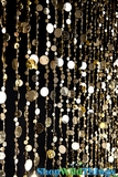 Bubbles Beaded Curtain - Gold - 3' x 6'