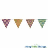 Bunting -  Paper Triangle -  Mosaic - 11 Feet Long