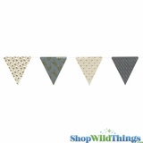 Bunting -  Paper Triangle -  Paisley Glitter - 11 Feet Long