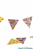 Bunting -  Paper Triangle -  Retro - 11 Feet Long