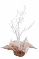 "Burlap Centerpiece & Flower Pot Wrap 24x24"" - Ivory & Natural"