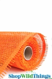 "Burlap Mesh - Orange 21"" x 5 Yards"