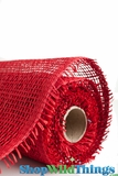 "CLEARANCE - Burlap Mesh - Red 21"" x 5 Yards"