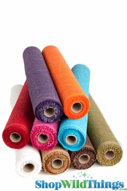 "Burlap Mesh Rolls - 21"" x  5 Yards - Several Colors"