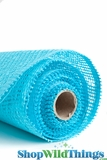 "CLEARANCE - Burlap Mesh - Turquoise  21"" x 5 Yards"