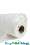 "CLEARANCE -Burlap Mesh - White 21"" x 5 Yards"