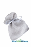 "Burlap Pouches 4"" Wide x 5"" Tall - Silver - 12 Pieces"