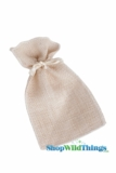 "Burlap Pouches 4"" Wide x 6"" Tall - Natural - 12 Pieces"