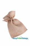 "Burlap Pouches 4"" Wide x 7"" Tall - Brown - 12 Pieces"