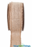 "Burlap Ribbon with Gold Metallic Zari Thread - 1.5"" x 10 yards"