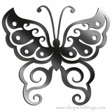 "Butterfly Flexi Mirror Adhesive Wall Art Sticker 7.5"" x 8"""