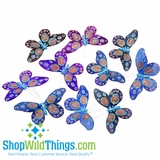 Butterfly Garland - Blues & Purples w/ Peacock Designs