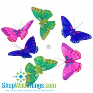 Butterfly Garland - Green, Purple, Pink