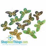 "Butterfly Garland - Peacock Colors 72"" Long"